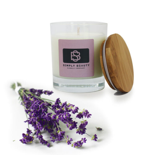 Lavender pure classic calming candle by Simply Beauty Aroma