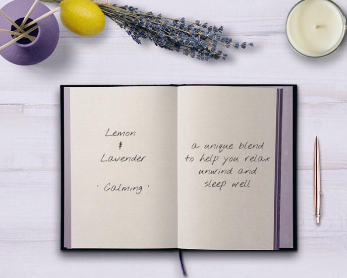 Lemon and Lavender Handmad Essential Oils Candle