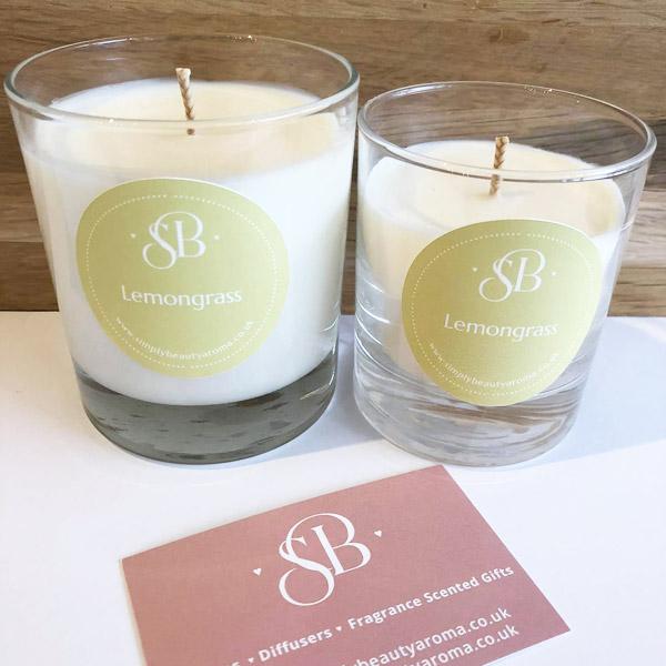 Lemon grass essential oil handmade candles