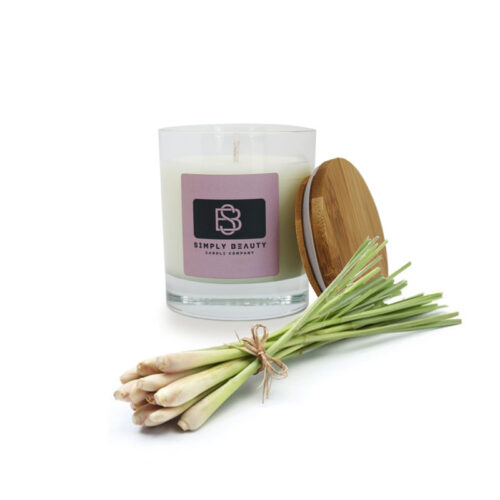 Lemon grass essential oil handmade candles
