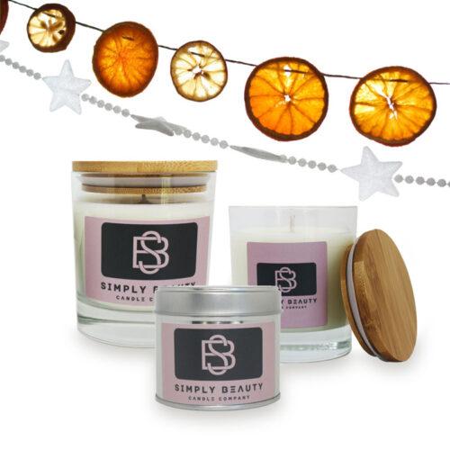 Lemon and Orange Christmas Candles