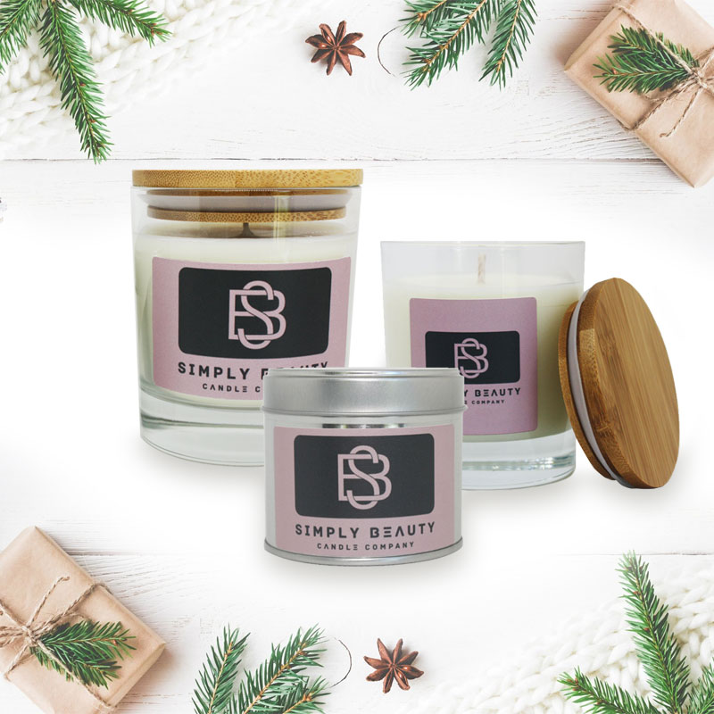Dark Amber and Ginger Lily Christmas Candles