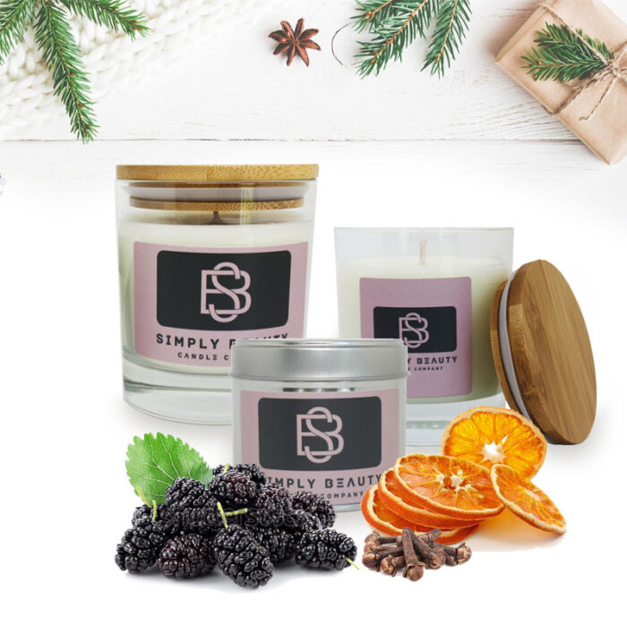 Mulberry Spice Christmas Candles