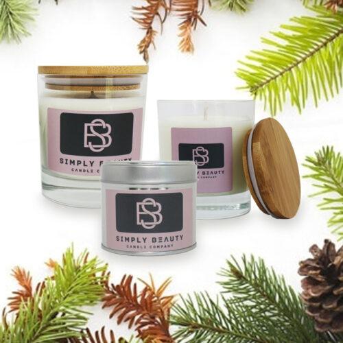 Pine Christmas Candle