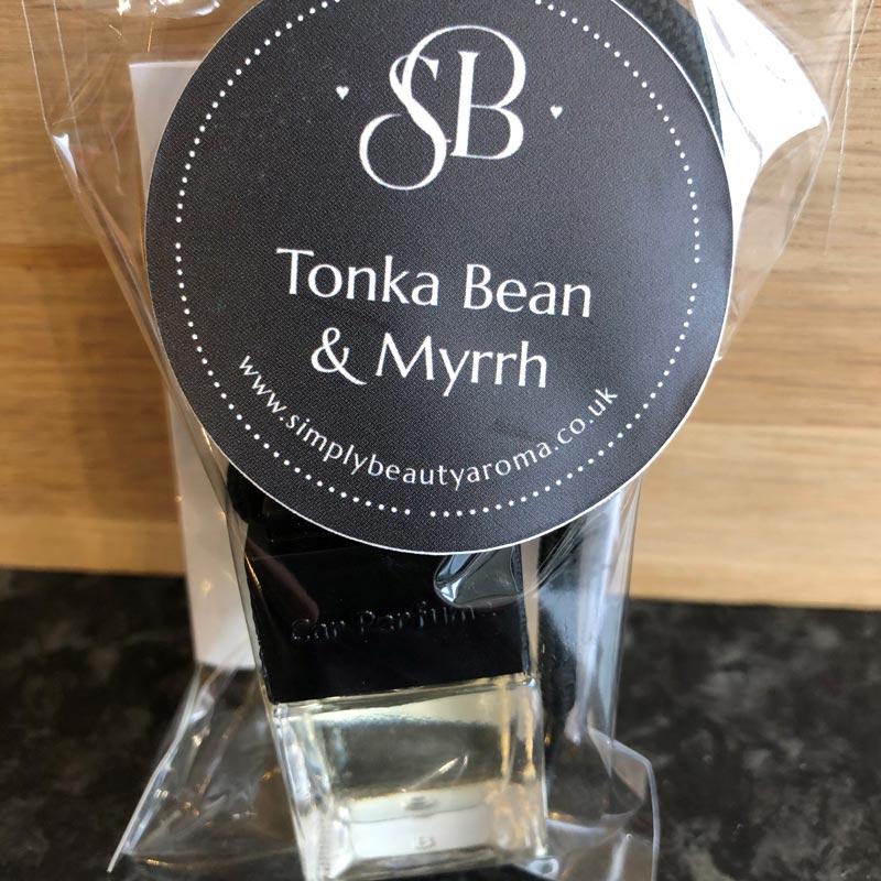 Scented Car Fresheners Tonka Bean & Myrrh