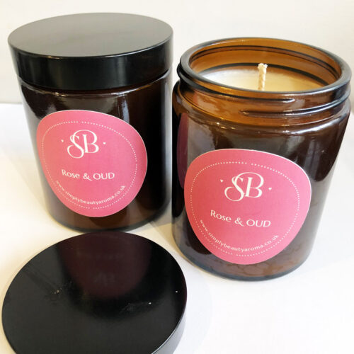 Rose & OUD Scented Soy Candle