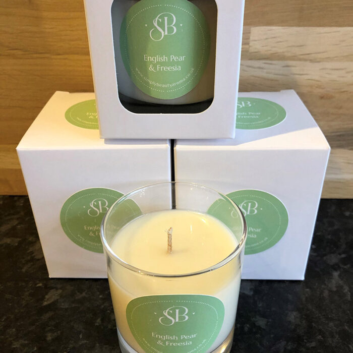 English Pear Freesia Tumbler Candles