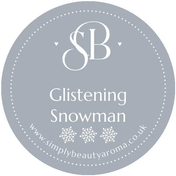 Glistening Snowman Candle