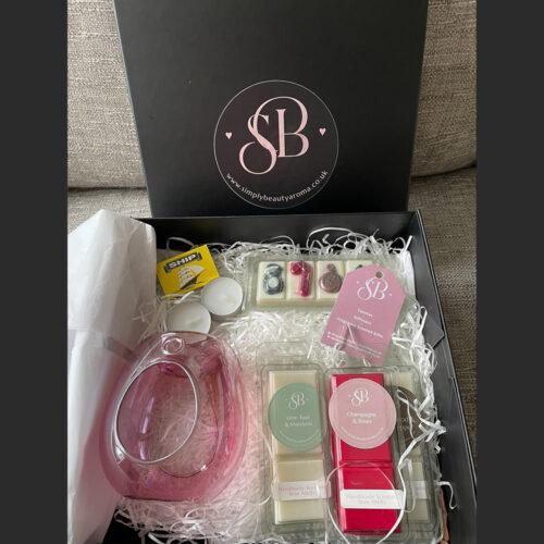 Gift-Box-glass-burner-4-wax-melts-pink